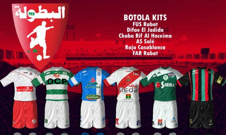 New six Moroccan Botola kits for FIFA 14